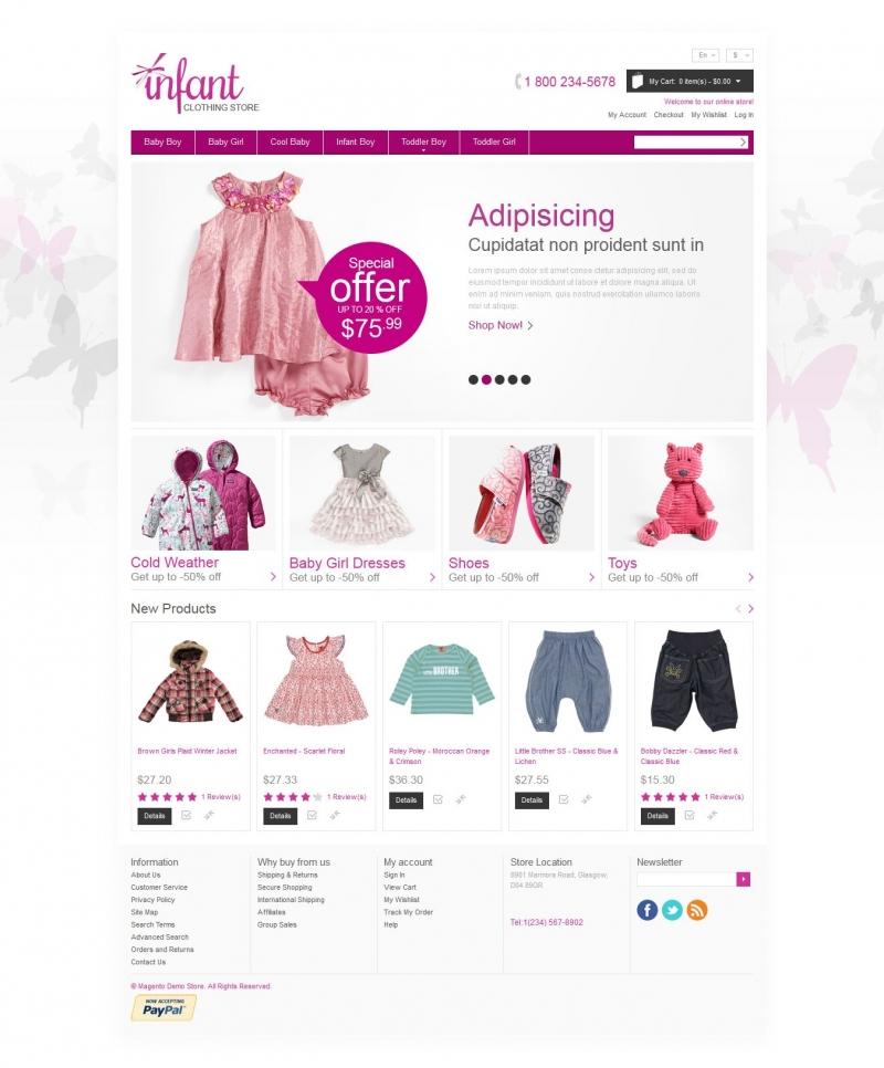 thiết kế web bán hàng thời trang trẻ em