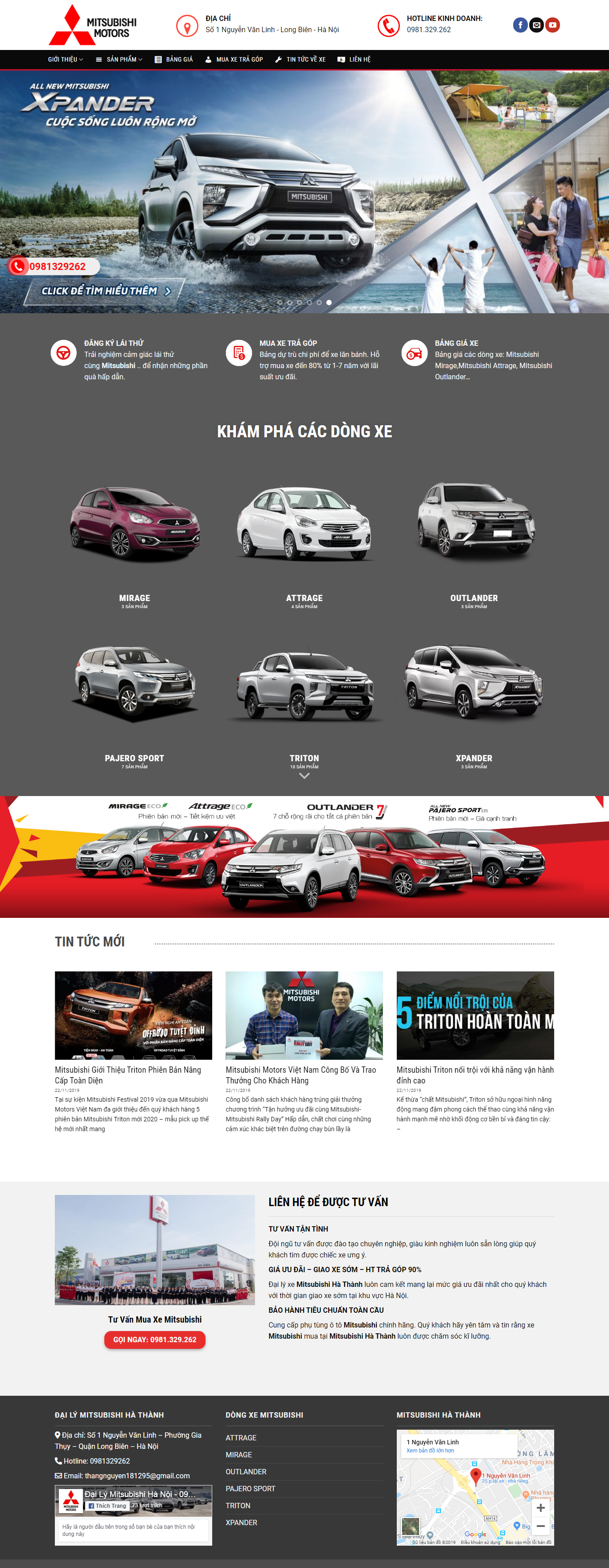 Thiết kế web giá rẻ ô tô - xe máy
