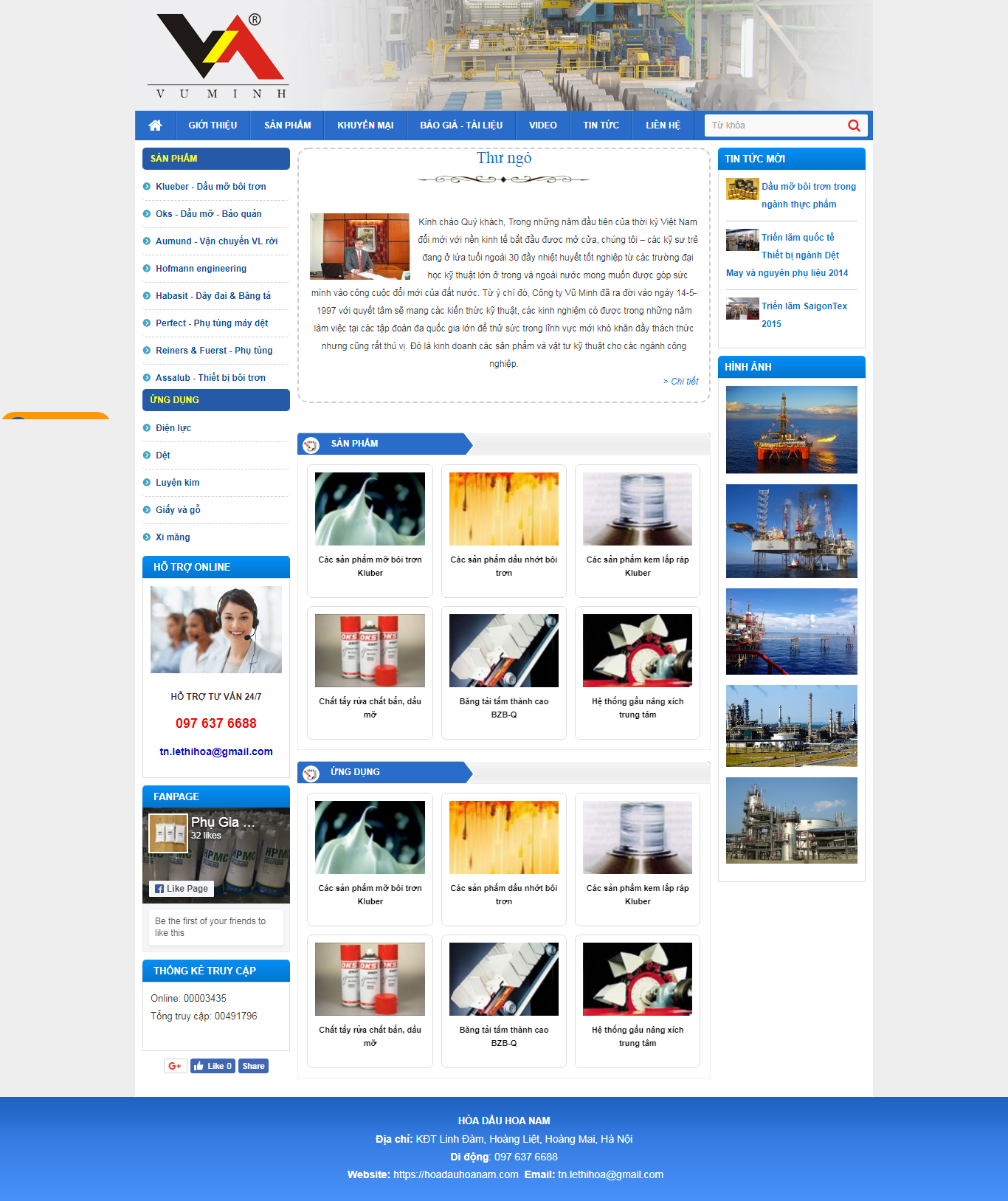 thiết kế web giá rẻ hóa dầu