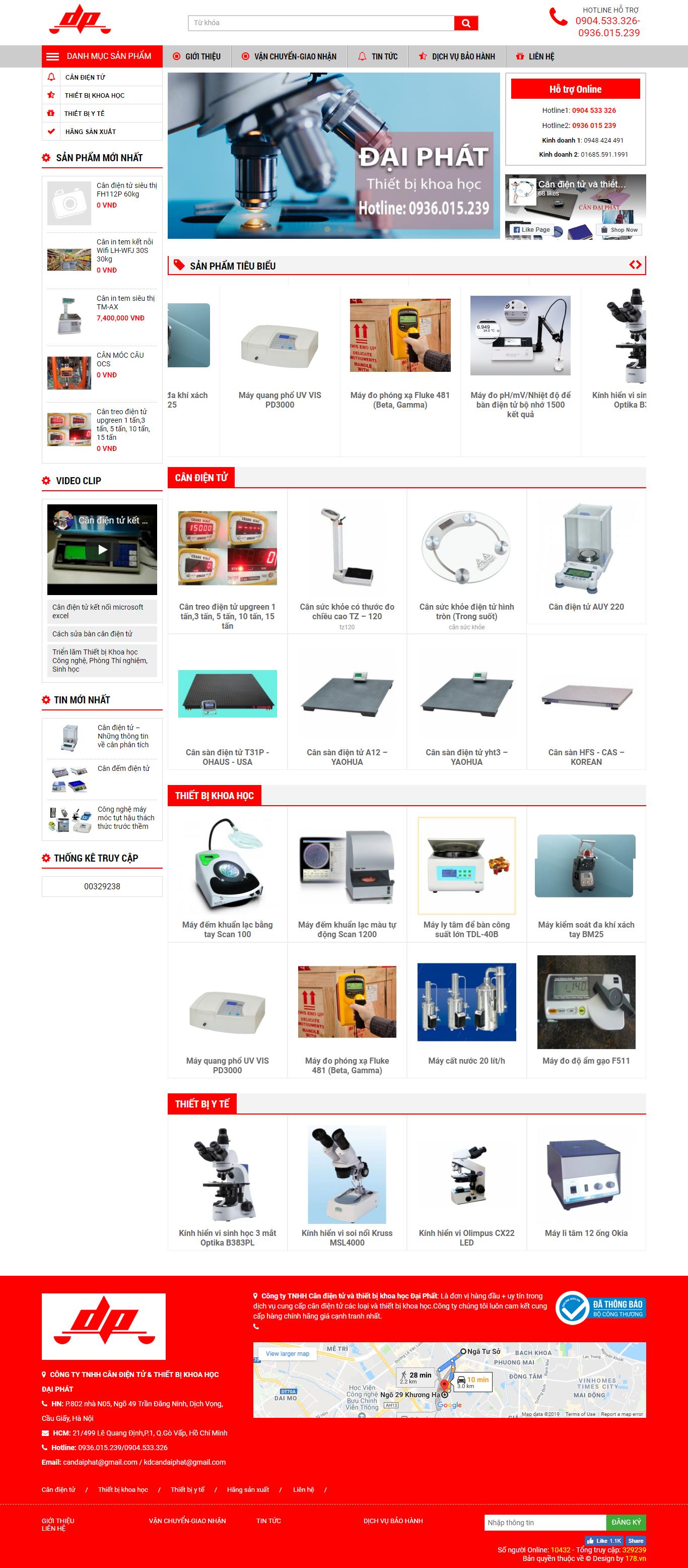 web giá rẻ bán cân điện tử