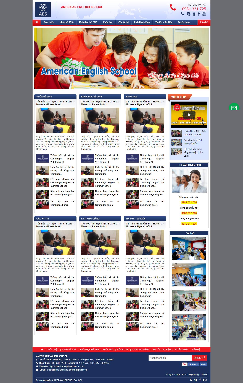 Thiết kế web tiếng anh trẻ em