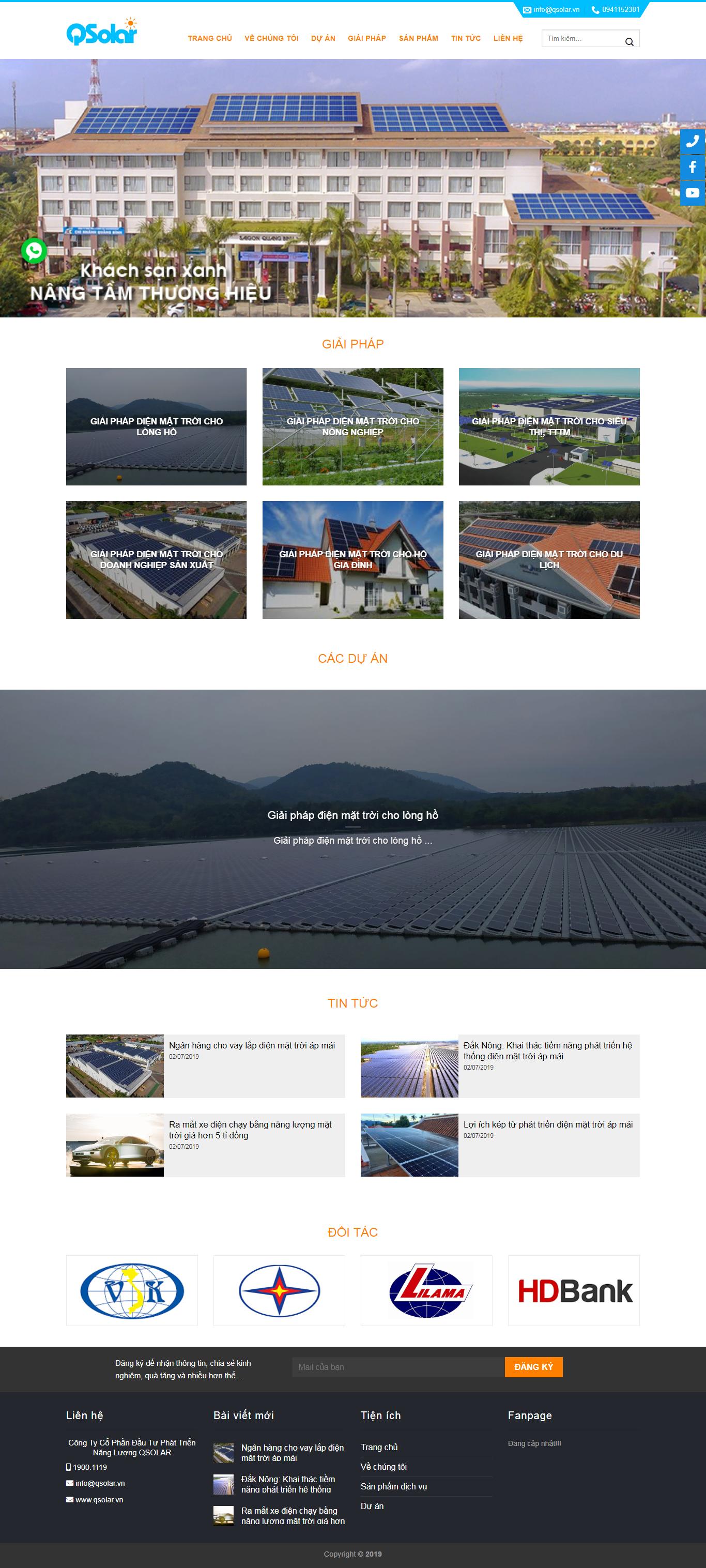 thiết kế web giá rẻ năng lượng