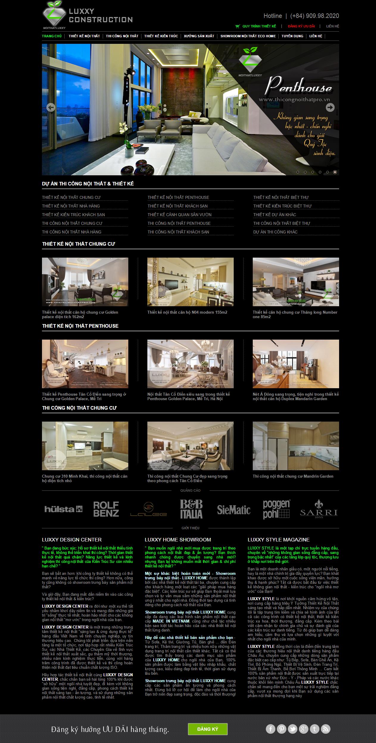 Thiết kế web giá rẻ kiến trúc nội thất