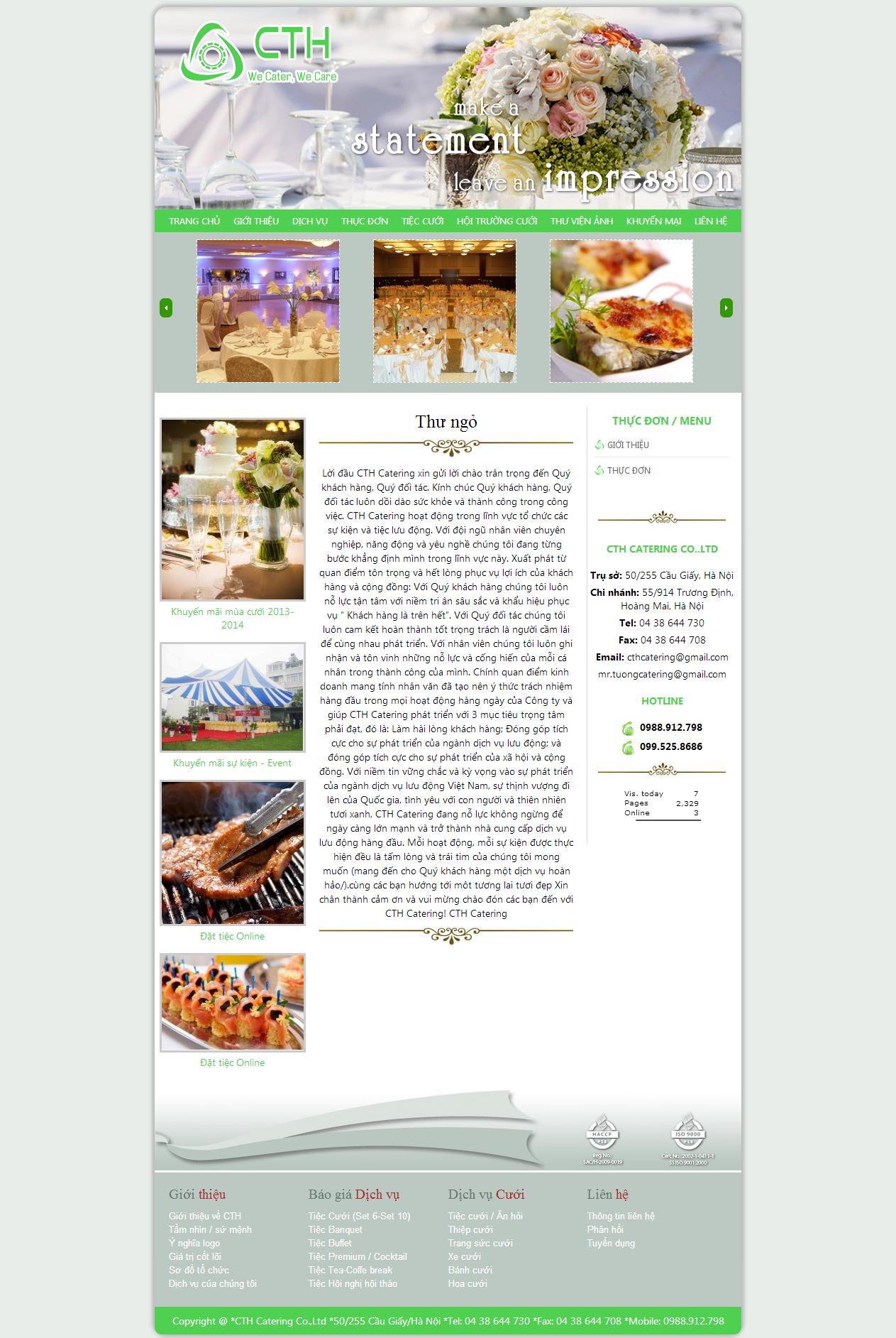 web giá rẻ nhà hàng tiệc cưới