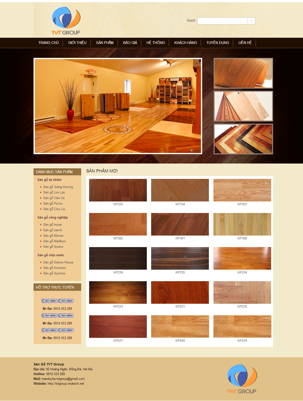 Thiết kế web giá rẻ sàn gỗ