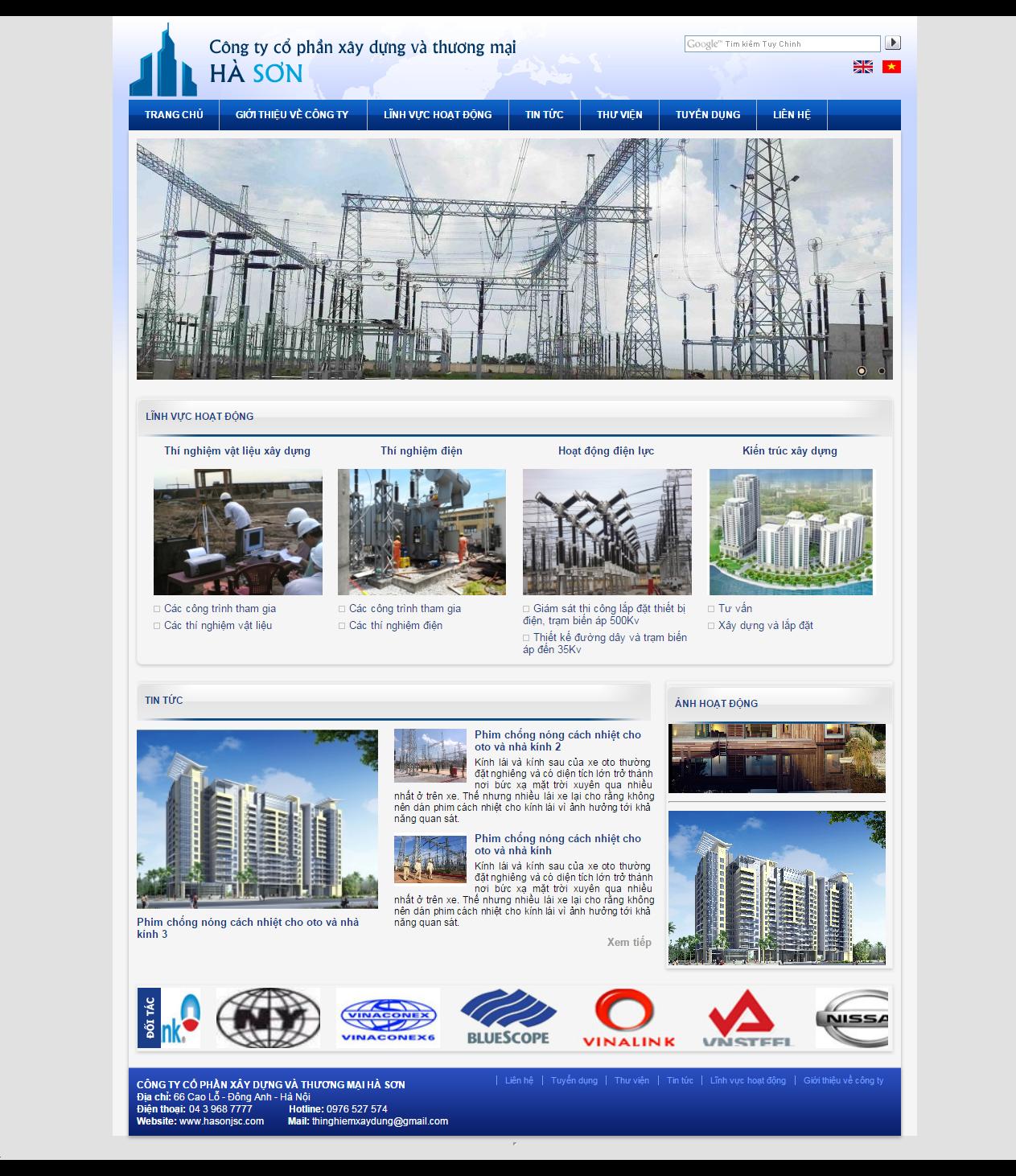 Web giá rẻ xây dựng, công trình