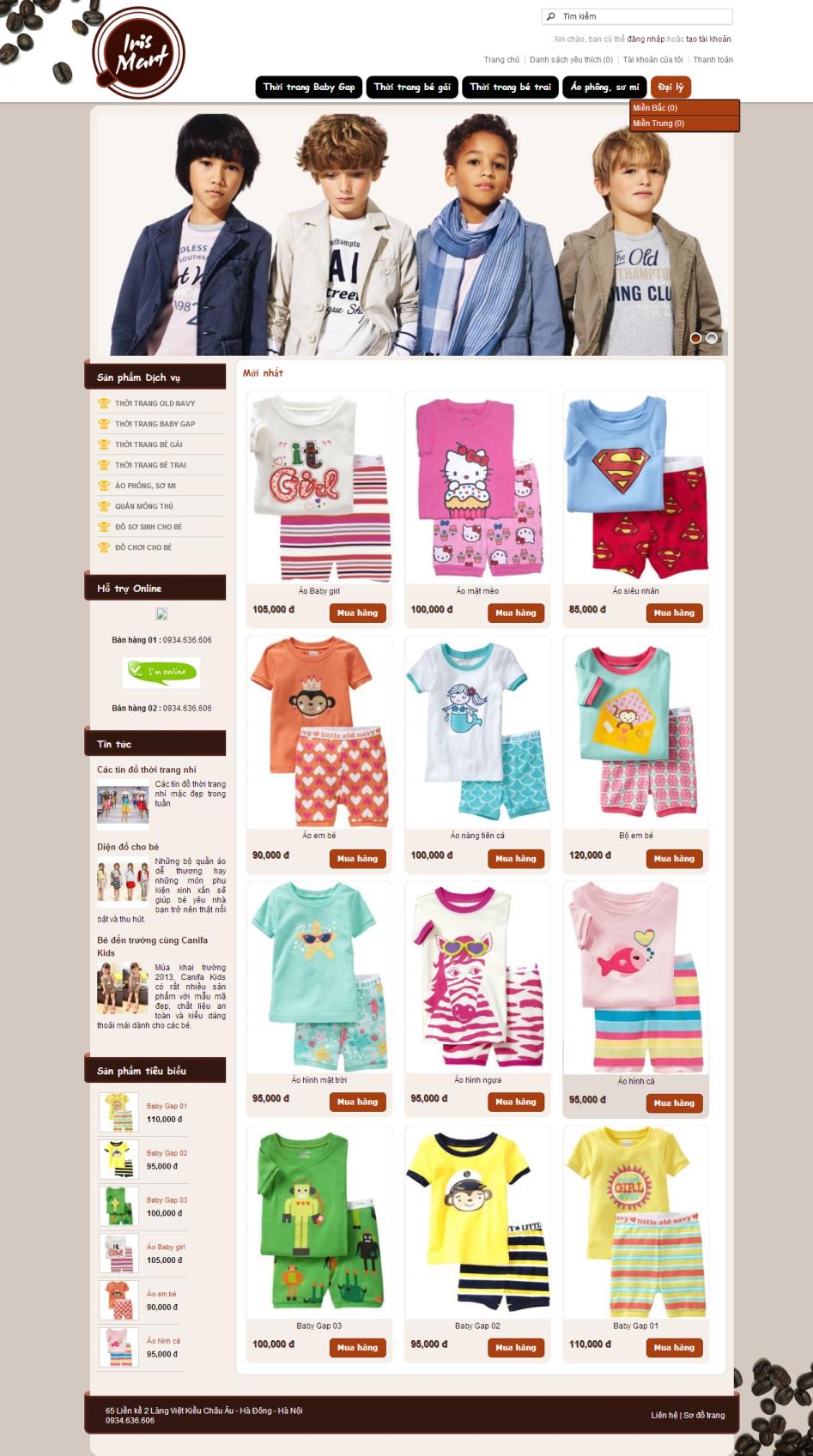Web giá rẻ thời trang trẻ em